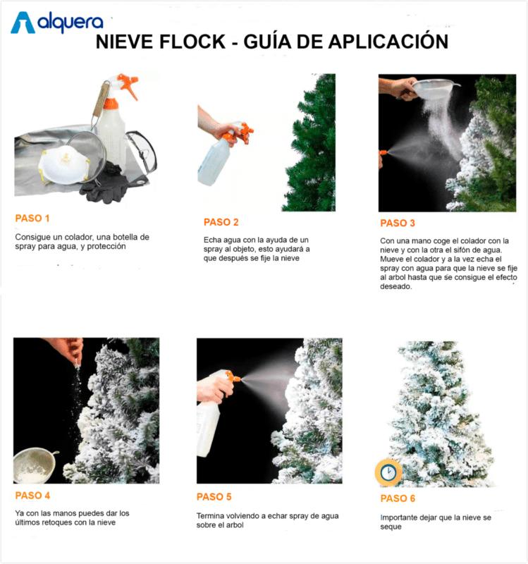 Nieve para árbol de navidad
