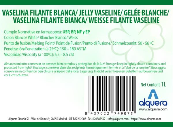 VASELINA FILANTE BLANCA ETIQUETA